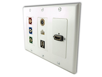 Cable Wall Plate to A/V Equipment
